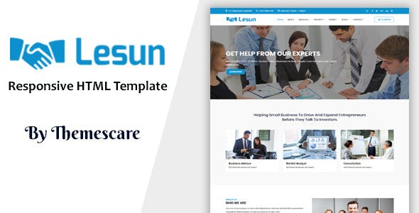 Lesun - Consulting & Business HTML Template