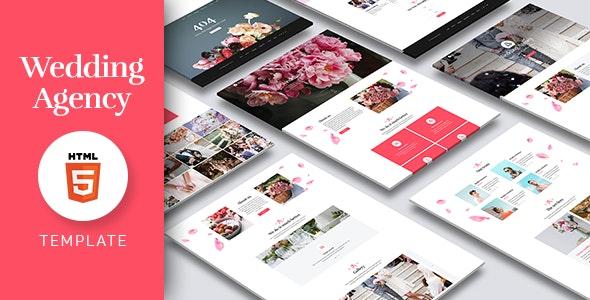 Wedding Agency Responsive Wedding HTML Template