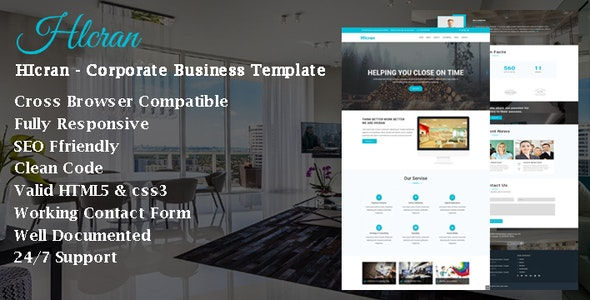 HIcran - Corporate Business Template - Technology Site Templates