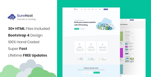 SureHost - Responsive Hosting Site Template - Hosting Technology