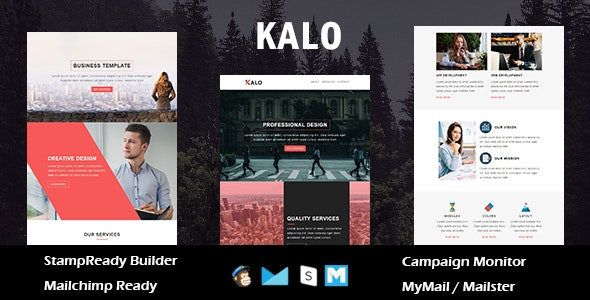 Kalo - Multipurpose Responsive Email Template With Online StampReady Builder Access - Newsletters Email Templates