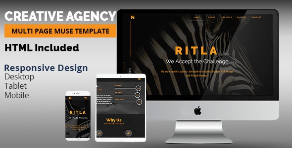 RITLA Creative Agency  Adobe Muse Template - Creative Muse Templates