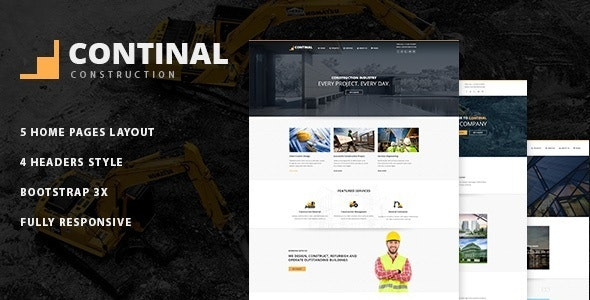 Continal - Construction Business Joomla Template - Business Corporate