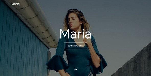 Maria || Model / Designer Portfolio Template - Portfolio Creative