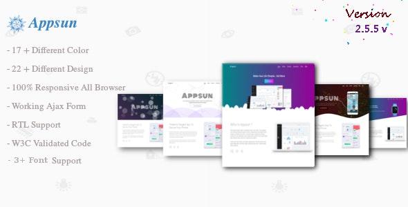 Appsun   App Landing Page - Technology Site Templates