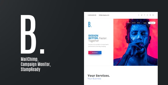 B. Email Newsletter - Email Templates Marketing