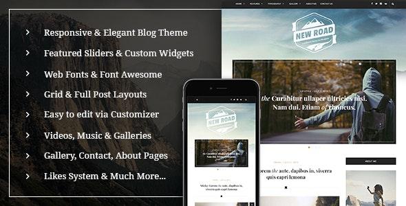 NewRoad - A Responsive WordPress Blog Theme - Personal Blog / Magazine