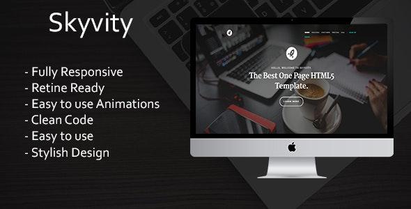 Skyvity - Responsive Landing Page Template - Portfolio Creative