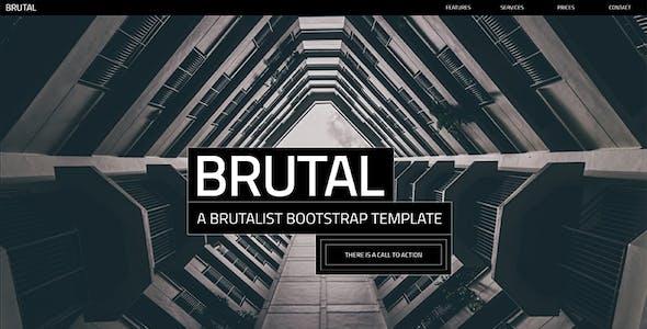 Brutal - A Brutalist Bootstrap v4 One Page HTML Template