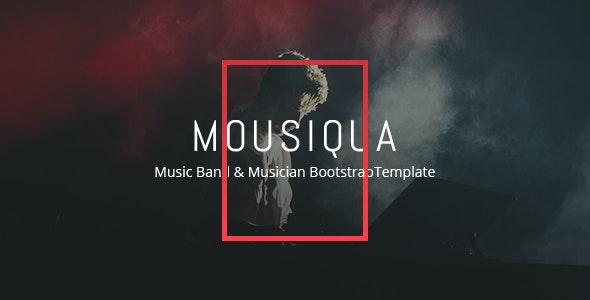 Mousiqua - Music Band  Html Template - Music and Bands Entertainment