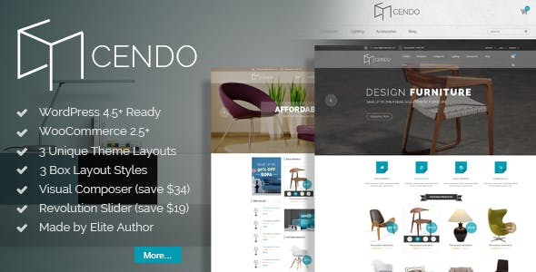 VG Cendo - WooCommerce WordPress Theme for Furniture Stores