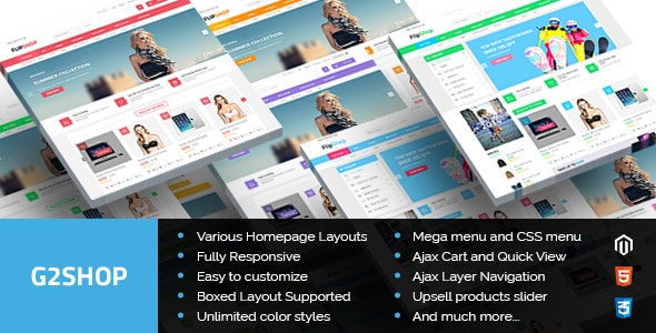 G2shop - Multipurpose Responsive Magento Theme - Shopping Magento