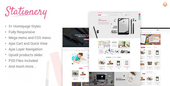 Stationery - Responsive Magento Office Supplies Theme - Shopping Magento