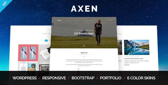 Axen - Personal Portfolio WordPress Theme - Portfolio Creative