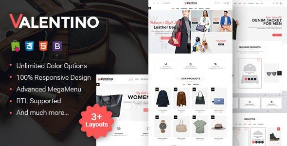 Valentino - Responsive Fashion Prestashop Theme