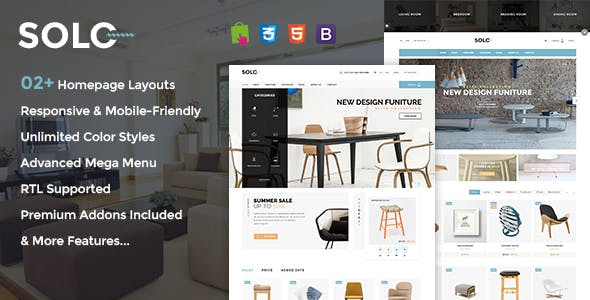 Solo - Prestashop Furniture/Interior Store Theme