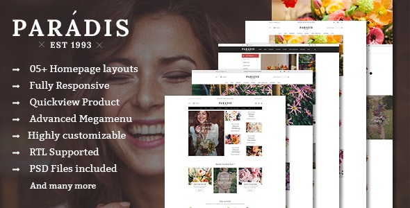Paradise - Responsive Multipurpose PrestaShop Theme - Shopping PrestaShop
