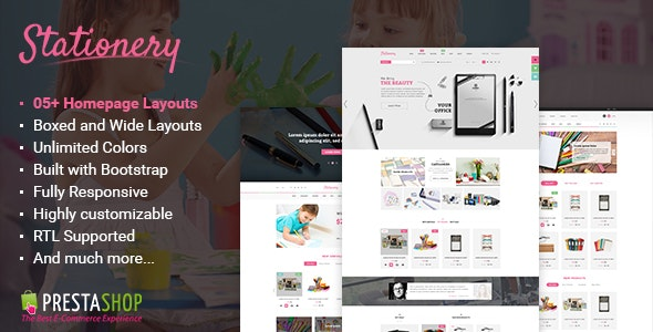 Stationery - Premium Responsive PrestaShop Theme - Shopping PrestaShop