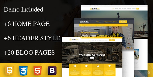 construct - Construction Corporate Business Drupal 8 Theme - Business Corporate