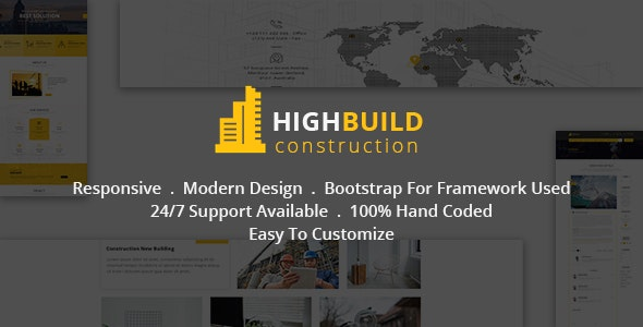 Highbuild - Construction, Building, Business, Renovation and Architecture Html 5 Template - Business Corporate
