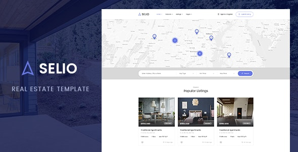 Selio - Real Estate PSD Template - Corporate Photoshop