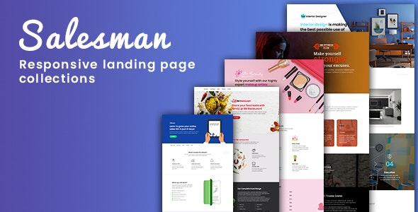 Salesman - Collection of Responsive Landing Page Templates - Site Templates