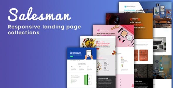 Salesman - Collection of Responsive Landing Page Templates