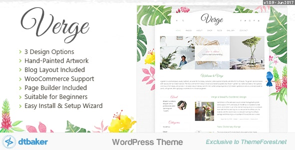 Verge - Easy Watercolor WordPress Theme - WordPress