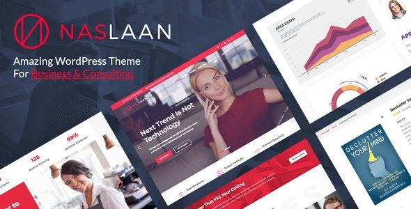 Naslaan - Consulting WordPress Theme - Business Corporate