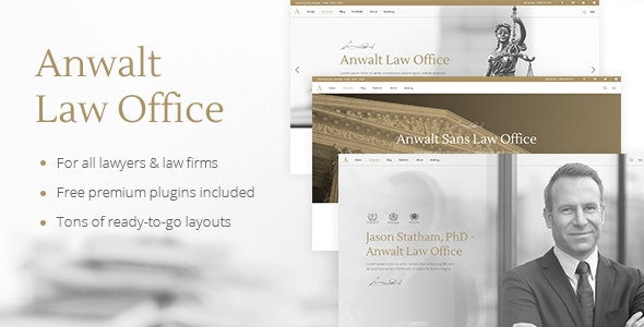 Anwalt - Law Firm and Lawyer Theme - Business Corporate