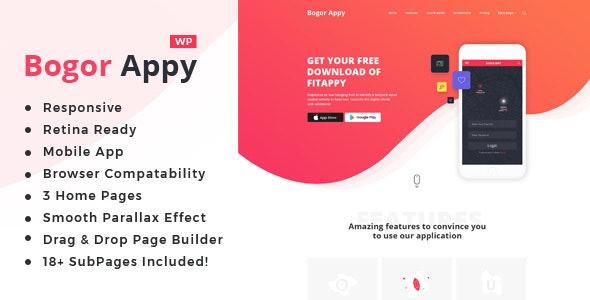 Bogor | App Landing WordPress Theme - Software Technology