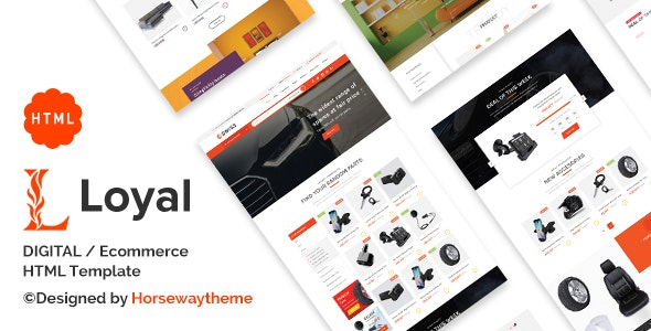 Loyal - Ecommerce HTML Template - Retail Site Templates
