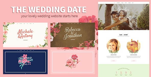 The Wedding Date - Responsive HTML Template - Wedding Site Templates