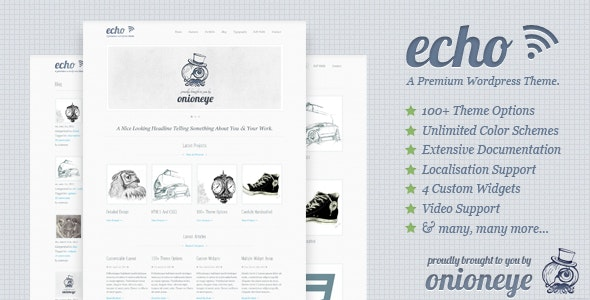 Echo: Clean and Creative WordPress Portfolio Theme - Portfolio Creative
