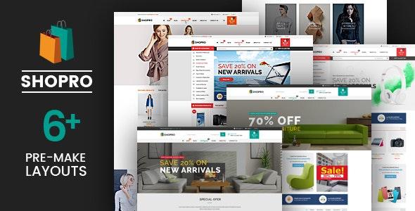 Shopro - Fashion Electronics Store HTML Template - Shopping Retail