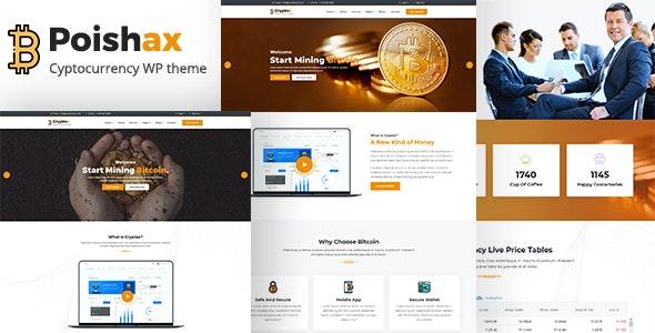 Poishax - Digital Cryptocurrency WordPress Theme - Corporate WordPress