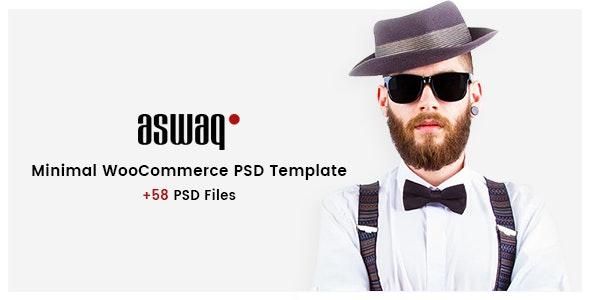 Aswaq - Minimal WooCommerce PSD Template - Retail Photoshop