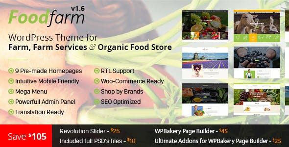 foodfarm yemek tarifleri wordpress teması