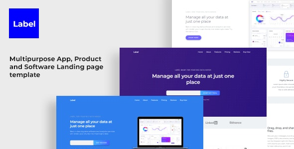 Label Software and App Landing Page Template - Landing Pages Marketing