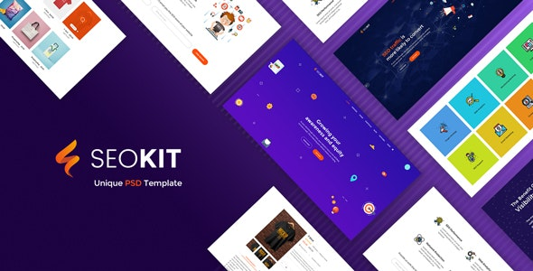 SEOKIT - Digital Marketing & SEO Agency PSD Template. - Photoshop UI Templates