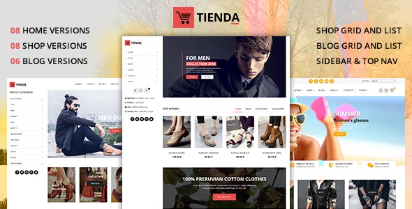 Tienda - eCommerce Joomla Theme with Page Builder by