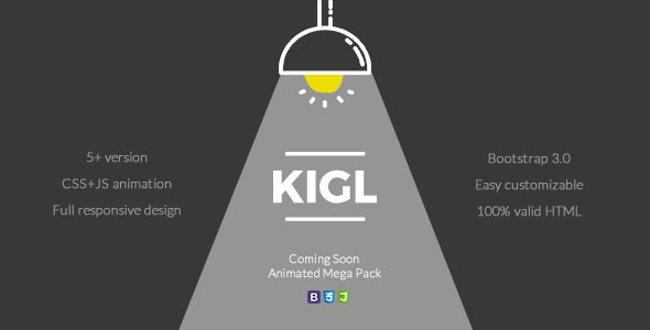 LIGL - Coming Soon Animated Mega Pack - Specialty Pages Site Templates