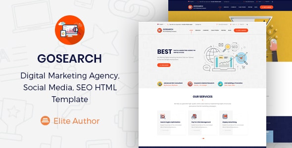 Gosearch - Digital Marketing Agency HTML Template - Marketing Corporate