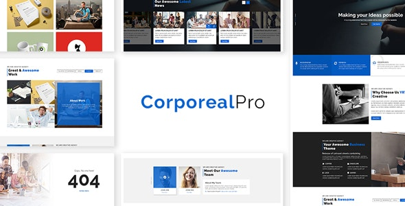 CorporealPro - Business / Corporate / Creative / Agency / Personal / Technology HTML Template - Corporate Site Templates