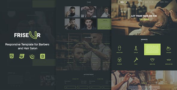 FRISEUR - Responsive Template for Barbers and Hair Salon