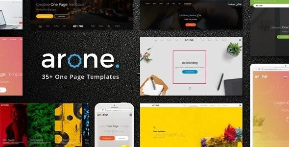 Arone - One Page Parallax Joomla Template - Portfolio Creative