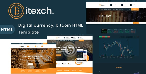 Bitexch Digital Currency and Bitcoins HTML Template - Business Corporate