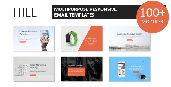 Hill - Multipurpose Responsive Email Template With Online StampReady Builder Access - Newsletters Email Templates