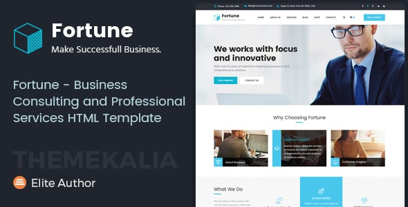Fortune - Business Consulting and Professional Services HTML Template - Business Corporate