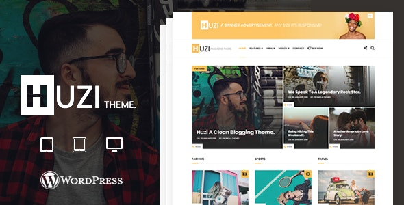 Huzi - A WordPress Blogging / Magazine Theme - Blog / Magazine WordPress